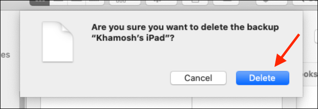 Click on Delete button from Finder popup