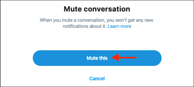 "To mute, click ""Mute This."""