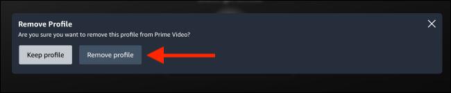 Click on Remove Profile to confirm