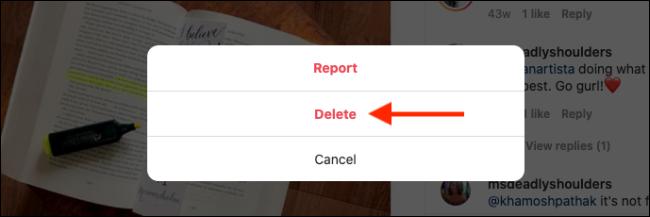 Click on the Delete button