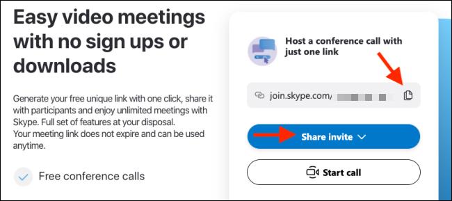 Copy the invite link
