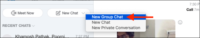 "Select ""New Group Chat."""