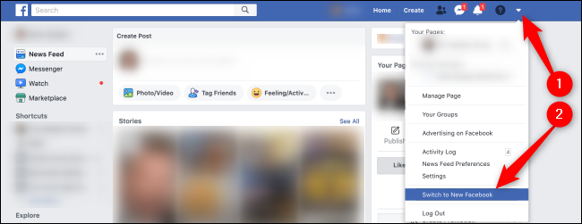 Enable New Facebook Interface