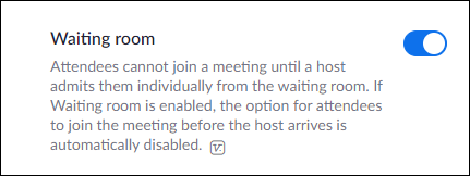 Enable the waiting room