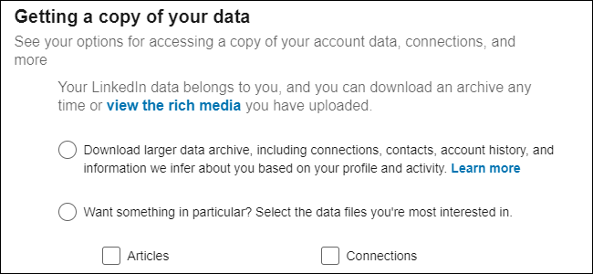 LinkedIn Data Management