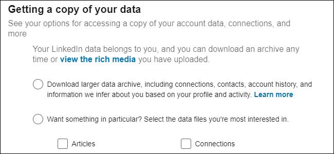 LinkedIn Data Management