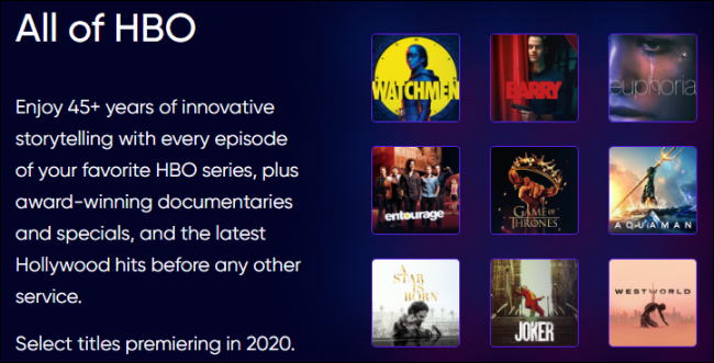HBO Max is All HBO Content