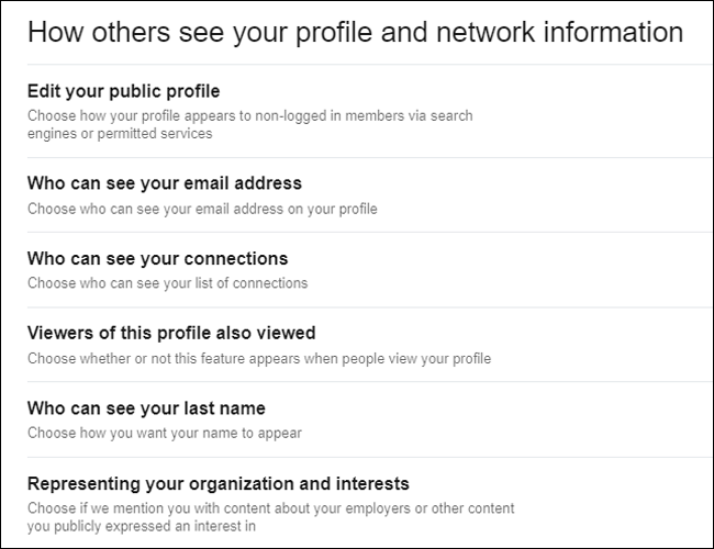 LinkedIn How others can see your profile