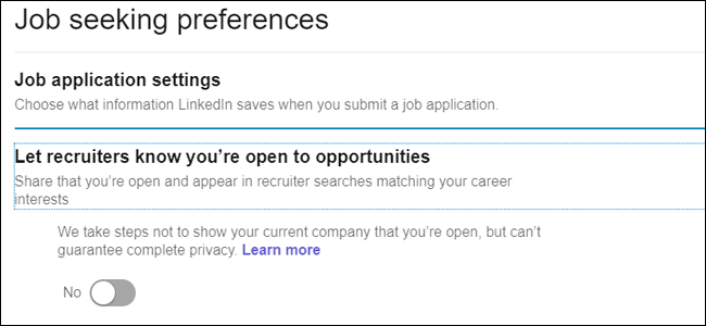 Job Seeking Preferences Open to Opportunities
