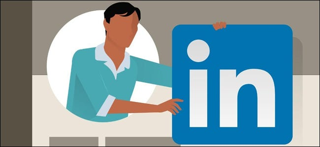 LinkedIn Man Holding Logo