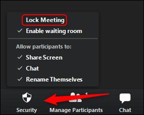 Lock the meeting room