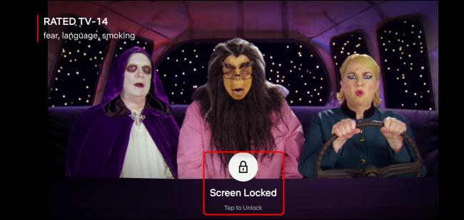 Netflix Screen Unlock Button