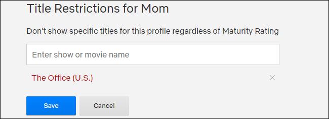 Netflix Title Restrictions