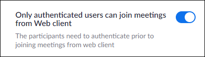 Only authenticated users can join option