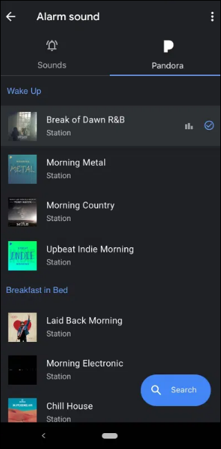 Pandora Radio Default Stations