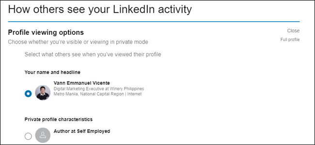 How others see your LinkedIn Activity