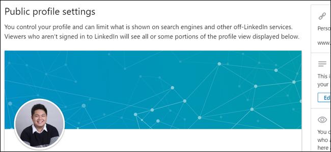 Public Profile Settings LinkedIn