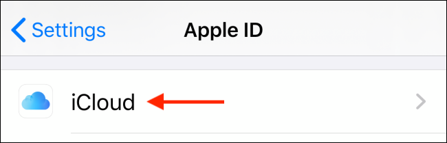 Select iCloud from profile