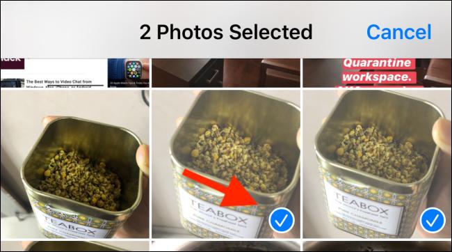 Select the HEIC photos