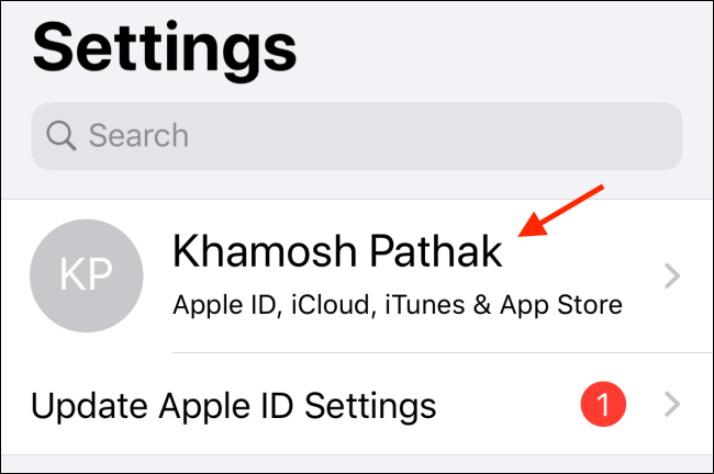 Select the profile from Settings