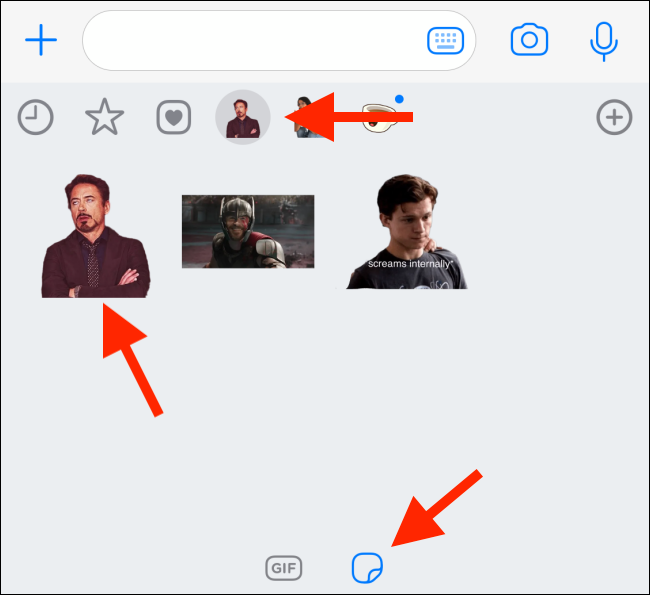 Send the Sticker in WhatsApp