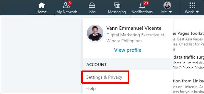 Linkedin Privacy Settings