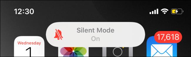 Silent Mode enabled banner