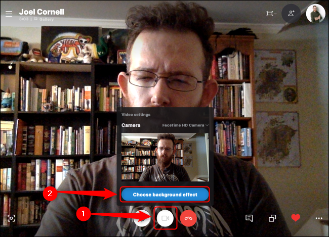 Skype Choose Background Effect