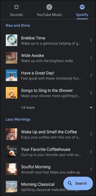 Spotify Default Alarms