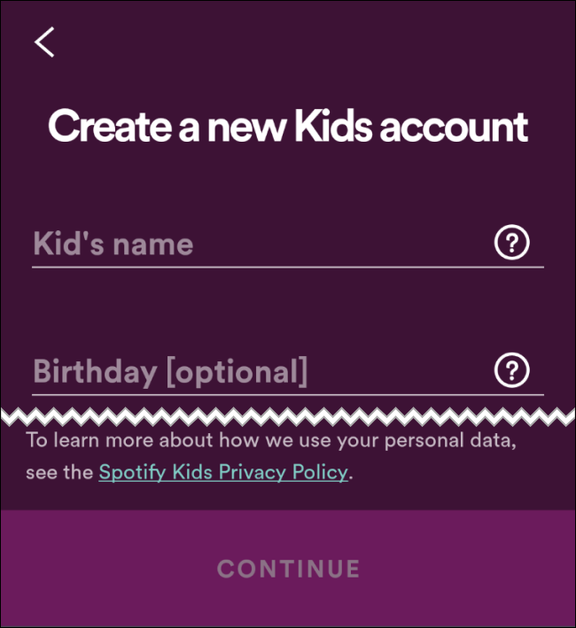 Spotify Kid Name