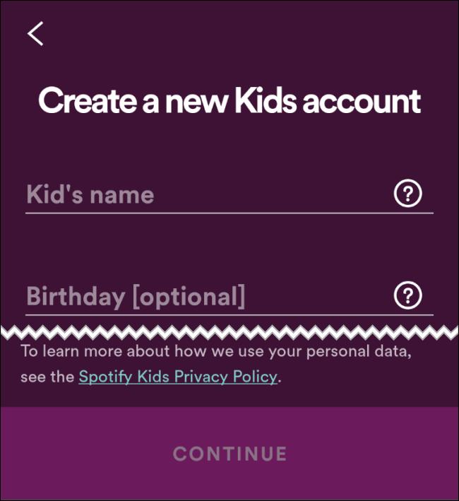 Spotify Kid Name