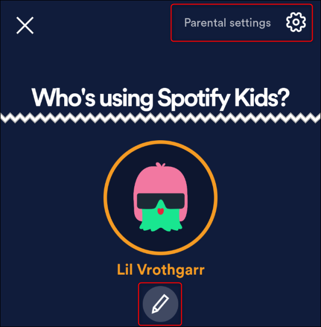 Spotify Kids Parental Settings
