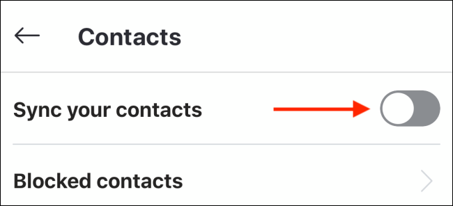 "Toggle-On ""Sync Your Contacts."""