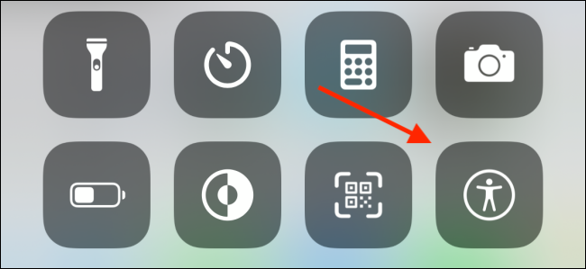 Tap on Accessibility Shortcuts control in Control Center