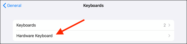 Tap on Hardware Keyboard