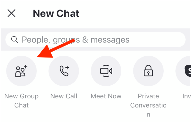 "Tap ""New Group Chat."""