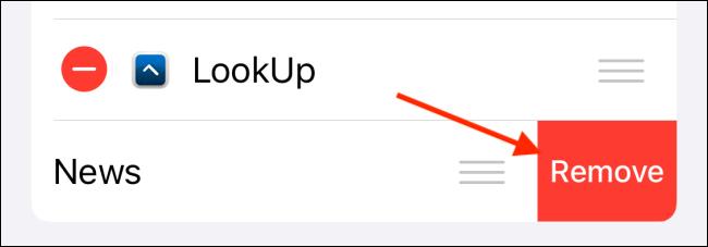 Tap on Remove button to delete the widget