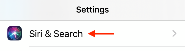 Tap on Siri and Search