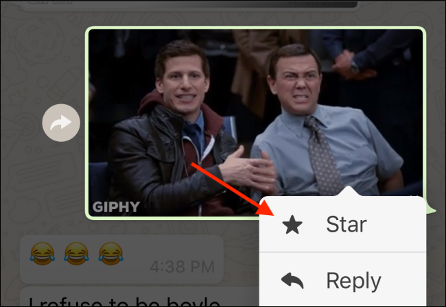 Tap on Star button to Start the GIF