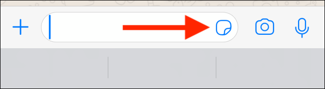 Tap on Sticker icon in text field in WhatsApp