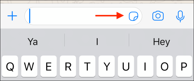 Tap on the Stickers icon in WhatsApp