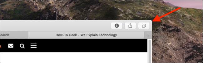 Tap on the Tabs button in Safari on Mac