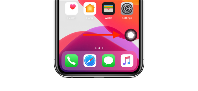 Tap on the floating AssistiveTouch Home button