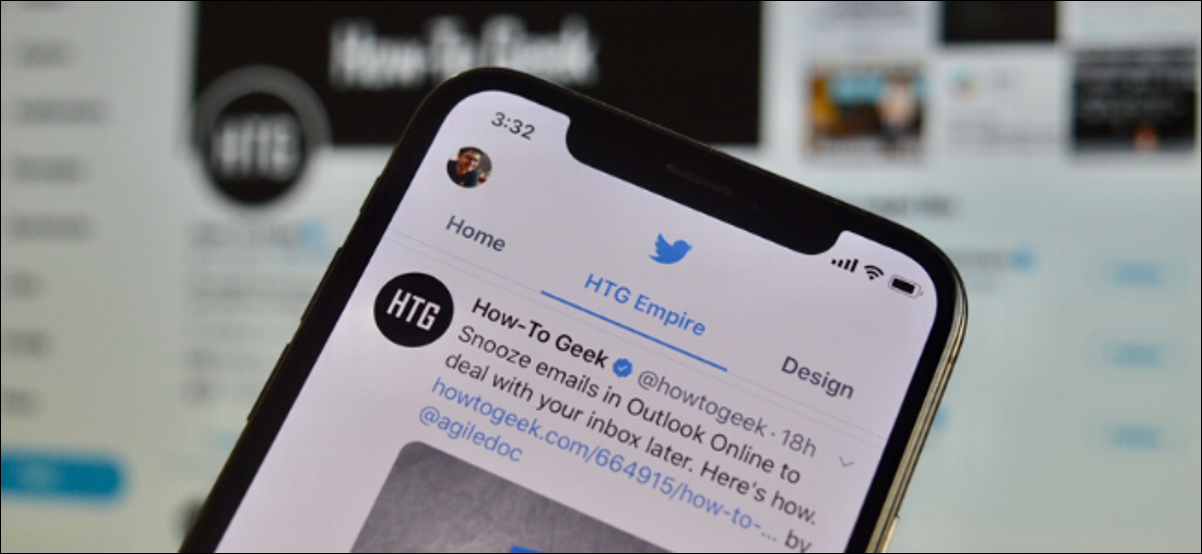 Twitter lists pinned to the top of timeline