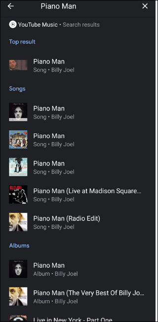 Youtube Music Search Billy Joel