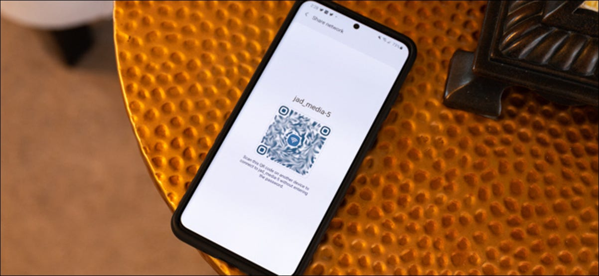 Android Share Wi-Fi Password using QR Code