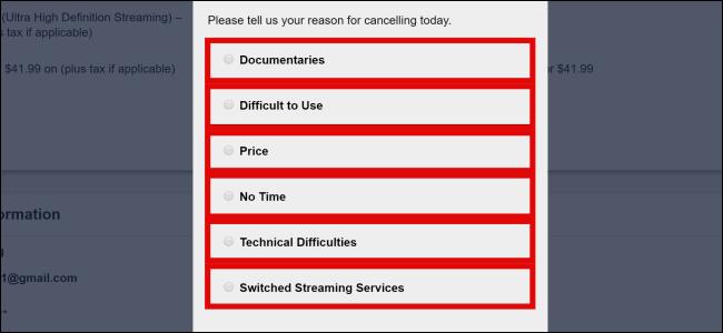 CuriosityStream Cancel Reasons
