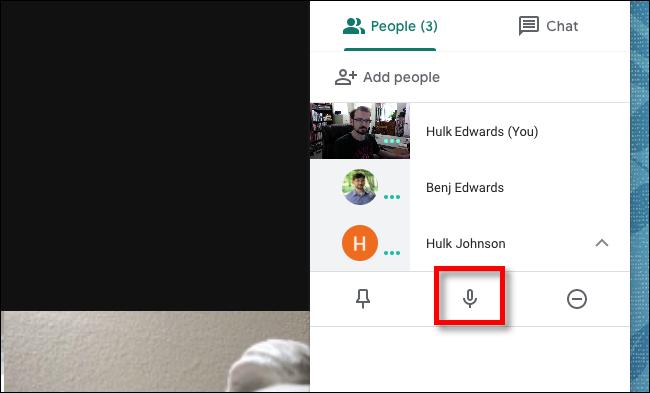 Google Meet click the ignore button
