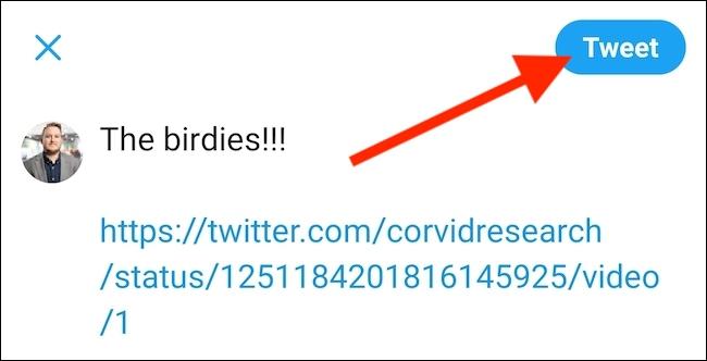 click on Tweet button