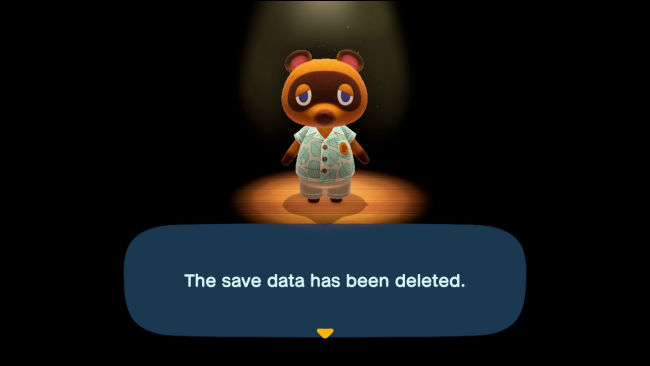 Player Registration Data has been deleted in Animal Crossing: New Horizons